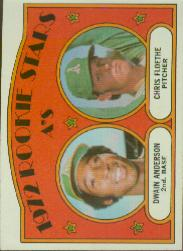 1972 Topps Baseball Cards      268     Dwain Anderson RC/Chris Floethe RC